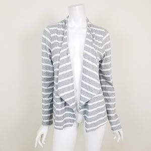 J. Crew Striped Always Cascading Cardigan Sweater